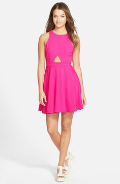MODISTE DRESSES 'Addison' Cutout Jacquard Skater Dress available at #Nordstrom