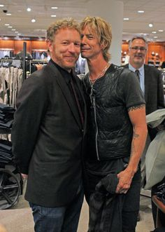 Photographer Lance Mercer with Duff McKagan at the Seattle Music Project event at Nordstrom