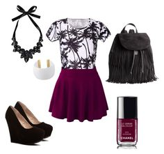 Graphic meets Glitzy by hayleytaft on Polyvore featuring polyvore, fashion, style, H&M, Boohoo, Gogo Philip and Chanel