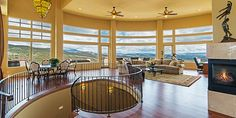 Breathtaking city, mountain, golf course, and valley views. Custom designed by…