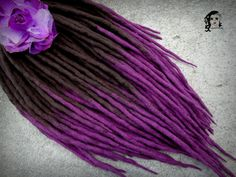 Wool Dreadlocks Dreads Violet Dream DE by SuperDreads on Etsy