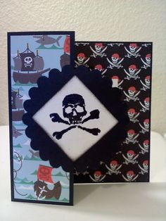 Another pirate card... dollar stamp embossed with black ink