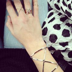 Silver X Cuff Bracelet