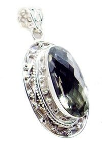 Wish | enticing Green Amethyst 925 Sterling Silver Green Pendant jaipur US gift (Size: Pack of 1, Color: Green)