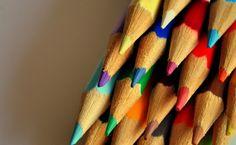 multicolor, lápices de colores, punto, establecen Fondos de ...