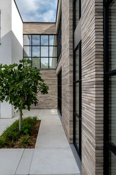 Ultima waterstruck bricks in an exclusive long format Cladding Design, House Cladding, Facade House, Dream House Exterior, Dream House Plans, Modern Exterior, Exterior Design, Brick Projects, Brick Facade