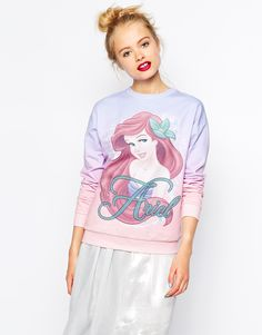 Buy ASOS Sweatshirt with Disney Little Mermaid Ariel Print at ASOS. With free delivery and return options (Ts&Cs apply), online shopping has never been so easy. Get the latest trends with ASOS now. Disney Little Mermaids, Ariel The Little Mermaid, Disney Shirts, Disney Outfits, Disney Sweaters, Disney Clothes, Disney Fashion, Shirts For Teens Boys, Asos Sweatshirt