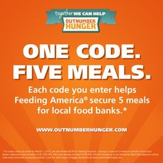 For every code you enter from a participating General Mills brand, you can unlock 5 meals for your local food bank. That's United Food Bank! Easy way to help fight hunger. #FeedingAmerica #foodbank #hunger #nonprofit