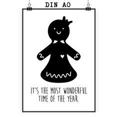 Poster DIN A0 Lebkuchenfrau aus Papier 160 Gramm  weiß - Das Original von Mr. & Mrs. Panda.  Jedes wunderschöne Poster aus dem Hause Mr. & Mrs. Panda ist mit Liebe handgezeichnet und entworfen. Wir liefern es sicher und schnell im Format DIN A0 zu dir nach Hause. Das Format ist 841 mm x 1189 mm.    Über unser Motiv Lebkuchenfrau  Die zuckersüße Lebkuchenfrau ist das bezaubernde Gegenstück zum Lebkuchenmann und darf in der Weihnachtszeit nicht fehlen.    Verwendete Materialien  Es handelt…