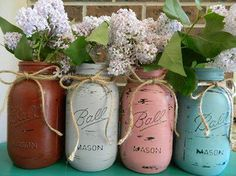 Painted jars
