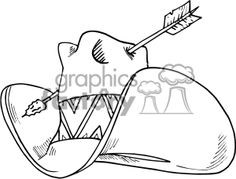 Royalty-Free Cowboy hat with an arrow going through it Clipart ...