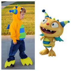 My Henry Hugglemonster costume.  Pieced together from dinosaur and monster costume ideas from Pinterest. Given my poor skill at the sewing machine, I'm pretty proud of how it turned out.