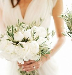 BOW awards: the best wedding bouquet ideas of 2014 - Wedding Party. Peonies with olive leaves?