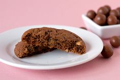Malted Chocolate Cookies with Whoppers