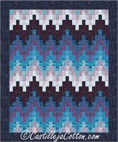 Free Pattern Serenity Bargello Quilt 47 X 62 By