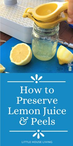 Do you have some extra lemons or did you find a great deal on lemons so you stocked up and now you aren't sure how to use them all before they go bad? Here's how to preserve lemon juice and lemon peels to enjoy the lemons as long as possible! Canning Tips, Canning Recipes, Little House Living, Best Juicer, Preserved Lemons, Dehydrator Recipes, Food Hacks, Food Tips, Recipes