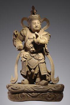 Hong Kong Imperial Art Museum - Agarwood Carving of Skanda Bodhisattva - (62 inch, approx. 80 kg).
