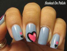 Hooked On Polish: VALENTINE #nail #nails #nailart