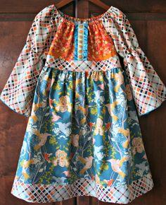 Girls Spring Dress Girls Spring Peasant Dress by sweetiepiedesign, $48.00