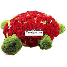 Tortuga floral. Mascotas florales.