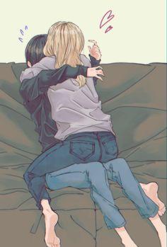 I hope I'll get to hold you like this soon, real real soon 🥺 Anime Girlxgirl, Anime Angel, Anime Naruto, Kawaii Anime, Couple Anime Manga, Couple Amour Anime, Lgbt Anime, Cute Lesbian Couples, Lesbian Art