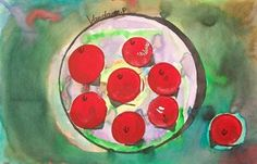 Artsonia Art Gallery - 1ST grade MATISSE APPLES '10-'11