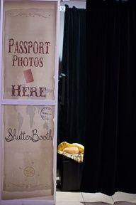"Photo Booth ""passport photos here"""