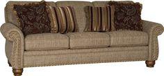 Mayo Furniture 9780F Fabric Sofa - Bouy Taupe