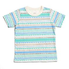 Short-Sleeve Tee - Geo Stripes Turquoise