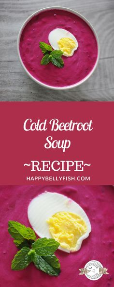 Cold Beetroot Soup Recipe: https://happybellyfish.com/recipes/cold-beetroot-soup/  Rezept: Rotebete Suppe Kalt