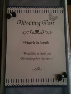 Wedding post box verse
