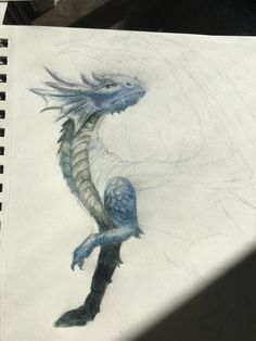 Started drawing a dragon ...