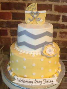 Baby Cakes Bakery, Covington Ga but in a different color like teal or pink instead of yellow