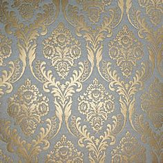 ivory and gold metallic patterned paper with vintage print.  Luxury lustre paper