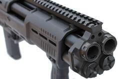Modern Firearms - Standard Manufacturing DP-12 double barrel pump action shotgun (USA)