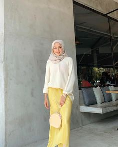 Hijab Casual, Hijab Chic, Hijab Outfit, Casual Outfits, Ootd Hijab, Hijab Dress, Girl Hijab, Modest Outfits, Hijab Fashion Summer