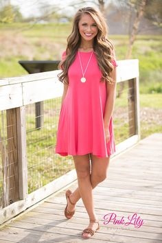 Relax and have a good time in this simple yet versatile dress! The soft material is perfect for any season - you can add a jacket and leggings for fall or wear with sandals for a summer look!