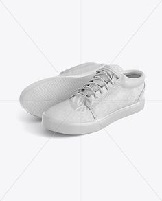 Two Sneakers Mockup - Half Side View