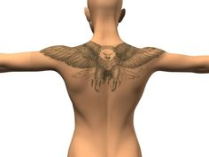 Eagle Tattoo Picture @David Nilsson Nilsson Halloran!!! Maybe not so big, but cool placement.
