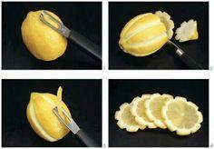 Maak bloemetjes van schijfjes citroen ♥ Foodness - good food, top products, great