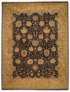 Lodi Garden Mahal Black Gold Rectangle Rug