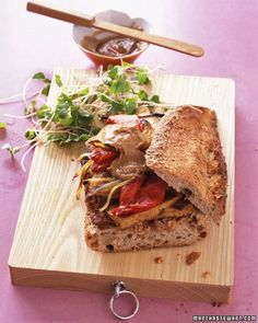 Crisp and #Healthy #Vegetarian #Tofu #Sandwich With Peanut-Ginger Sauce