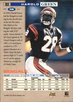 1996 Pro Line - National #83 Harold Green Back
