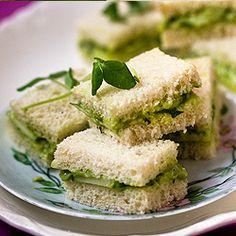 Cucumber Avocado Tea Sandwiches - site has lots of yummy sounding tea sandwiches.