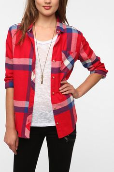 URBAN OUTFITTERS BDG Flannel Button-Down Shirt