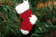 Christmas Stocking Ornament by beansprout_creations, via Flickr