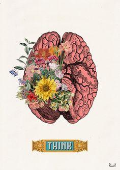 Human Pink Brain THINK wall poster : Human Brain Anatomical art Anatomy art Wall art Wall Brain Painting, Brain Drawing, Brain Art, The Snow, Brain Tattoo, Brain Illustration, Human Figure Drawing, Medical Art, Science Art