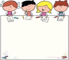 School Kids Learning vector art illustration
