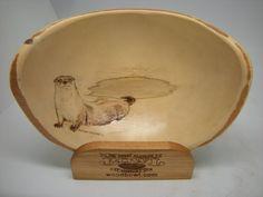 Art Bowl - River Otter - Hand Drawn - Alaskan Birch - Tamara Sayre