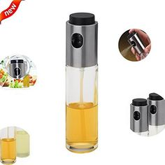 Bedrocker Glass Olive Spraying Oil Pot - Can Replaces Salad Dressing Bottles 100ml Mist Sprayer and Clean to Use